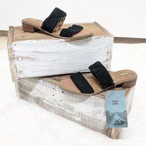 TOMS Black Slip-on Sandals